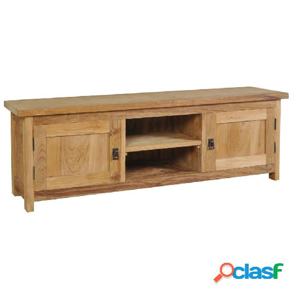 vidaXL Mueble para TV de madera maciza de teca 120x30x40 cm