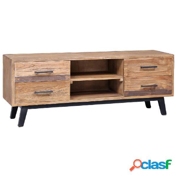 vidaXL Mueble para TV de madera maciza de teca 120x30x45 cm