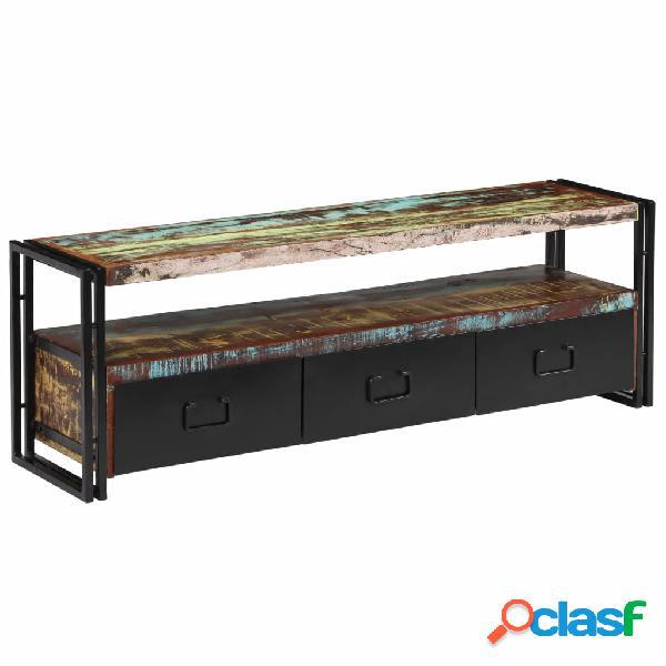 vidaXL Mueble para TV de madera maciza reciclada 120x30x40
