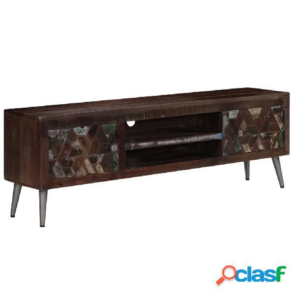 vidaXL Mueble para TV de madera maciza reciclada 140x30x45