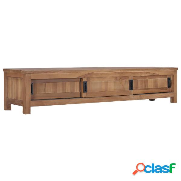 vidaXL Mueble para TV de teca maciza 150x30x30 cm