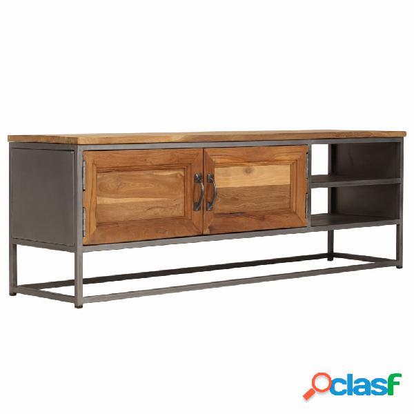 vidaXL Mueble para TV madera de teca reciclada y acero