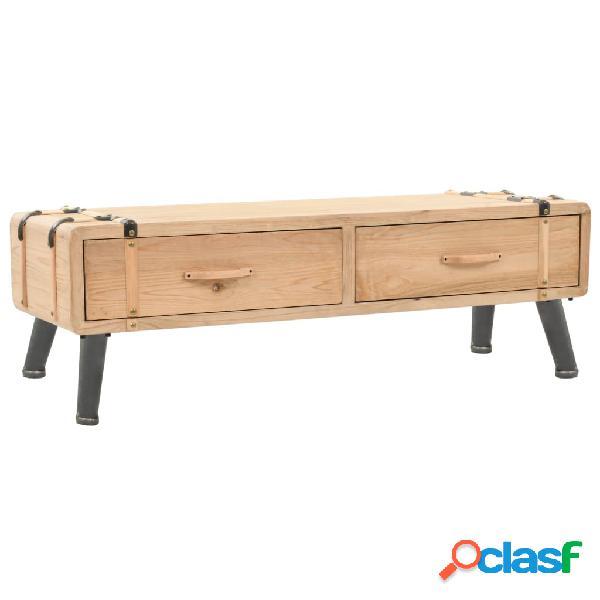 vidaXL Mueble para TV madera maciza de abeto 120x33x35 cm