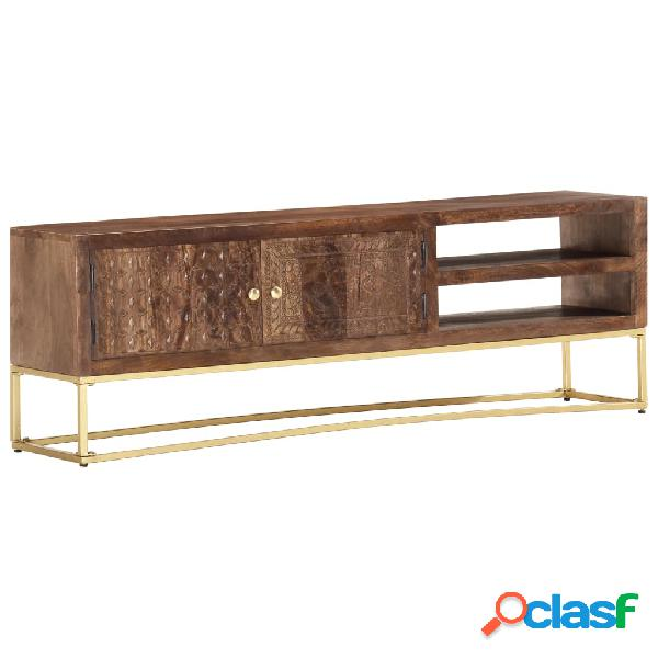 vidaXL Mueble para TV madera maciza de mango 140x30x30 cm
