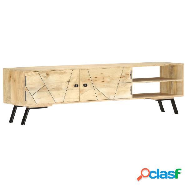 vidaXL Mueble para TV madera maciza de mango 140x30x40 cm