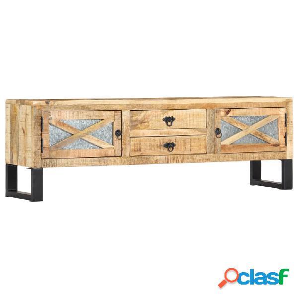 vidaXL Mueble para TV madera maciza de mango 140x30x45 cm
