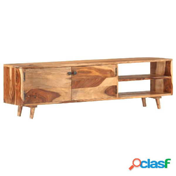 vidaXL Mueble para TV madera maciza de sheesham 140x30x40 cm