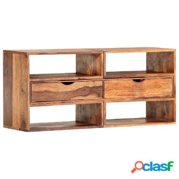 vidaXL Mueble para TV madera maciza de sheesham 160x30x45 cm