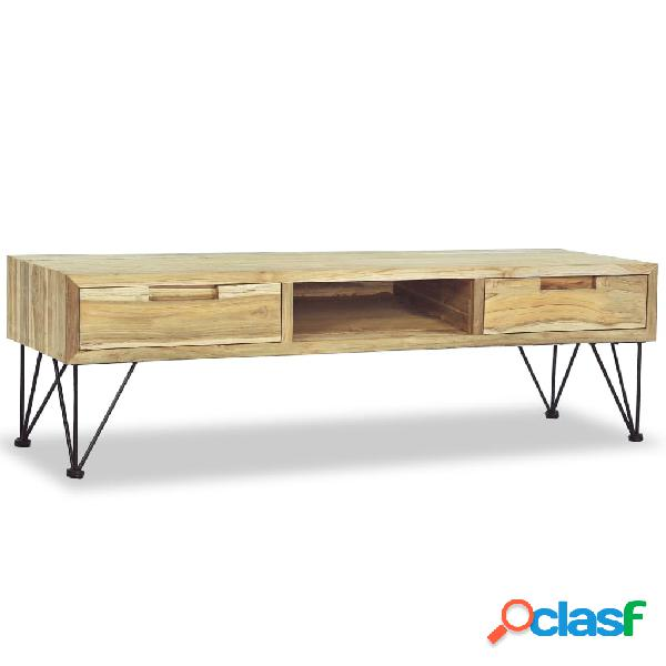 vidaXL Mueble para la TV 120x35x35 cm de madera maciza de