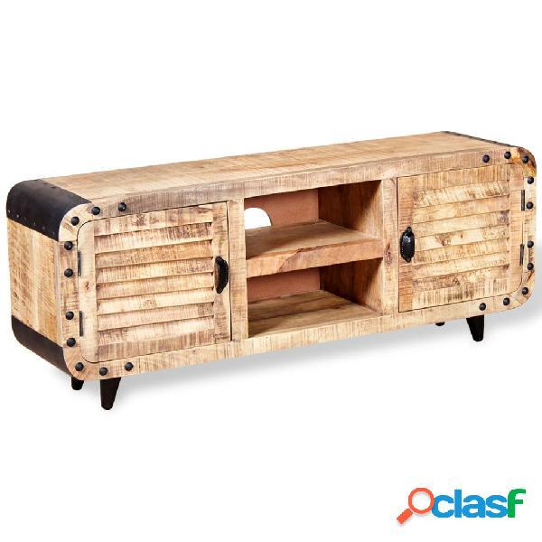 vidaXL Mueble para la TV de madera de mango rugosa 120x30x50