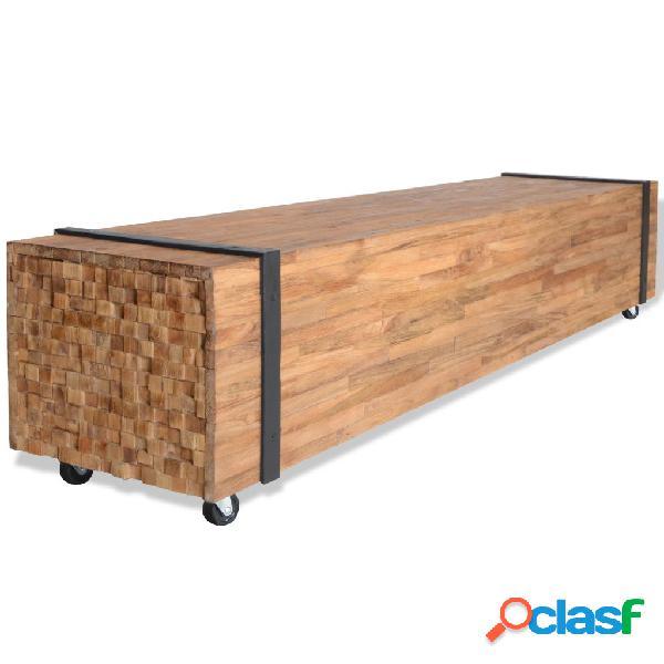 vidaXL Mueble para la TV de madera de teca 150x30x30 cm