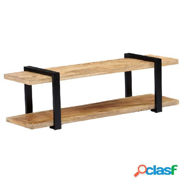 vidaXL Mueble para la TV de madera maciza de mango 130x40x40