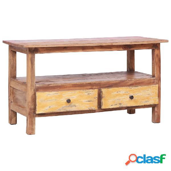 vidaXL Mueble para la TV de madera maciza reciclada 90x40x50