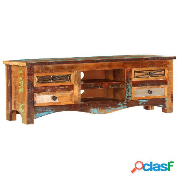 vidaXL Mueble para la TV madera maciz reciclada 120x30x40 cm