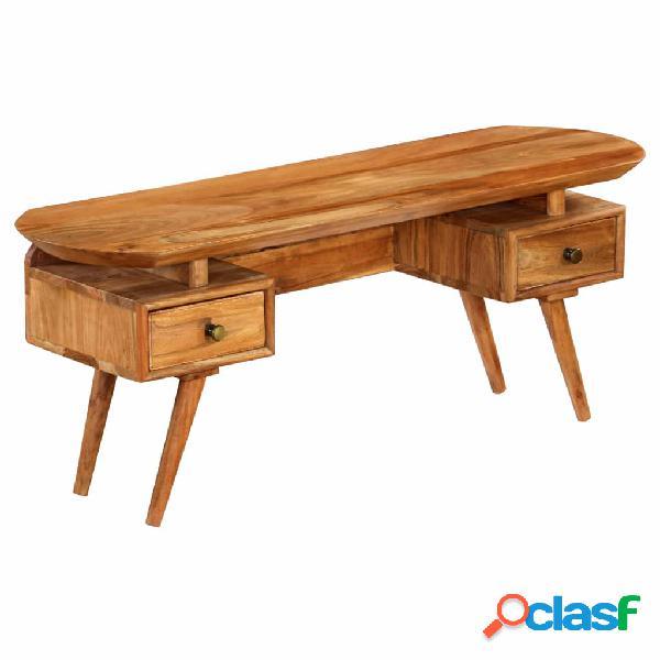 vidaXL Mueble para la TV madera maciza de acacia 115x35x46
