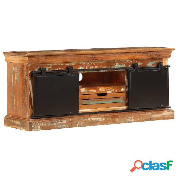 vidaXL Mueble para la TV madera maciza reciclada 110x30x45