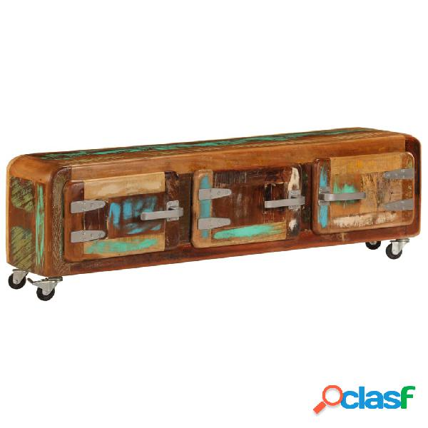 vidaXL Mueble para la TV madera maciza reciclada 120x30x37
