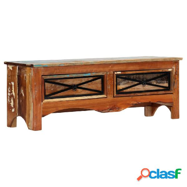 vidaXL Mueble para la TV madera maciza reciclada 120x30x40
