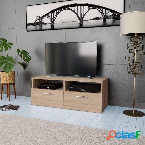 vidaXL Mueble para la televisión aglomerado color roble