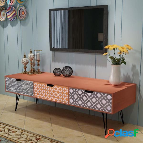 vidaXL Mueble para la televisión con 3 cajones 120x40x36 cm