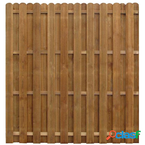 vidaXL Panel de valla madera de pino impregnada 170x170 cm