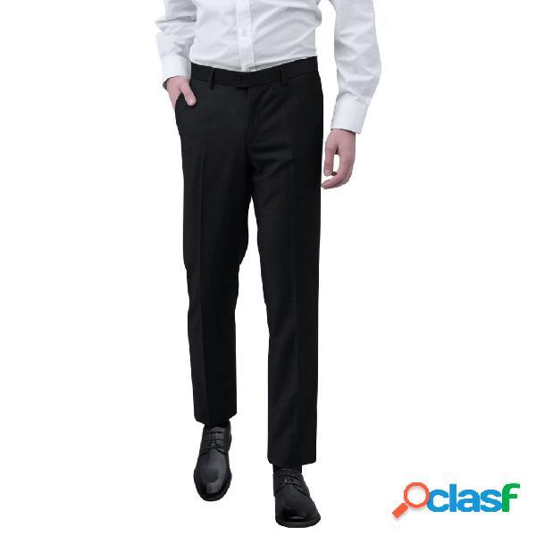 vidaXL Pantalones de vestir para hombre talla 50 negro