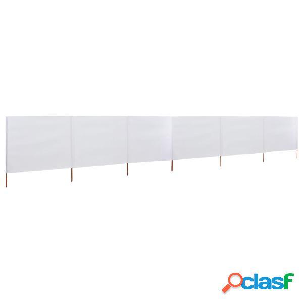 vidaXL Paravientos de playa de 6 paneles de tela 800x80 cm