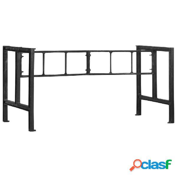 vidaXL Patas de mesa de comedor de hierro fundido 150x68x73