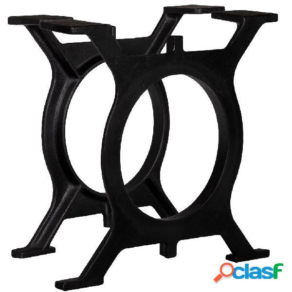 vidaXL Patas de mesa de comedor en O hierro fundido 2