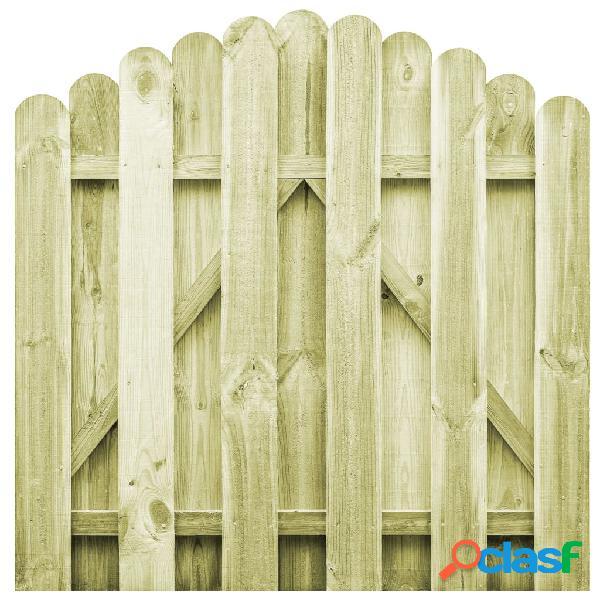 vidaXL Puerta de jardín de madera de pino impregnada