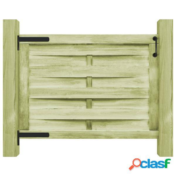 vidaXL Puerta de valla madera de pino impregnada verde
