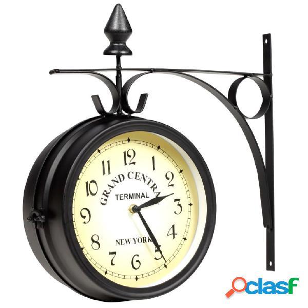 vidaXL Reloj de pared de dos caras 20 cm