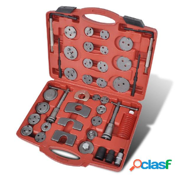 vidaXL Set de herramientas de pinzas de freno traseras, 40