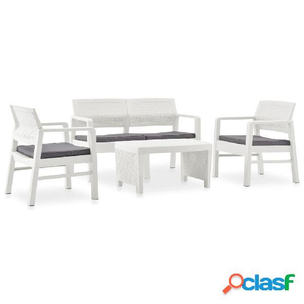 vidaXL Set de muebles de jardín 4 piezas con cojines