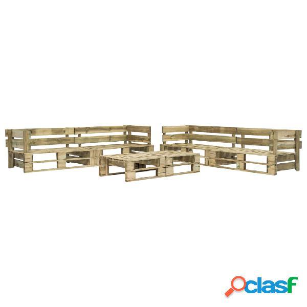 vidaXL Set de muebles de palés para jardín 6 piezas madera