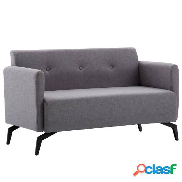 vidaXL Sofá de 2 plazas con tapizado de tela 115x60x67 cm