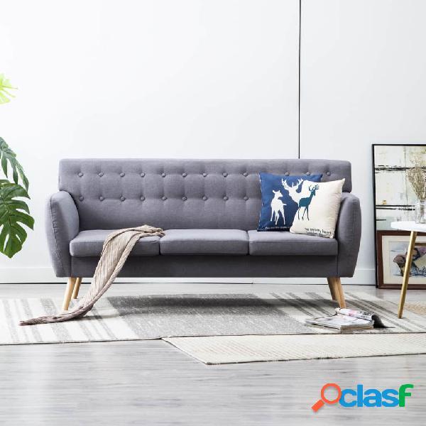 vidaXL Sofá de 3 plazas con tapizado de tela 172x70x82 cm