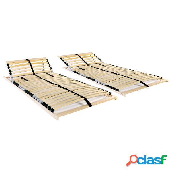 vidaXL Somieres de cama 2 uds con 28 láminas 7 zonas 70x200