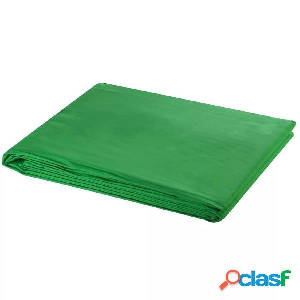 vidaXL Telón de fondo estudio fotografía algodón verde