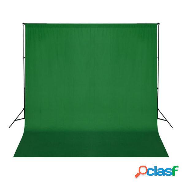 vidaXL Telón de fondo para fotografía algodón verde