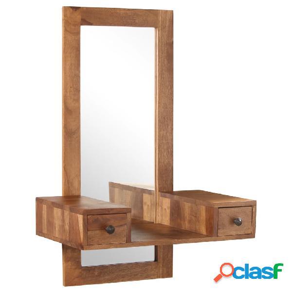 vidaXL Tocador con 2 cajones madera maciza de sheesham