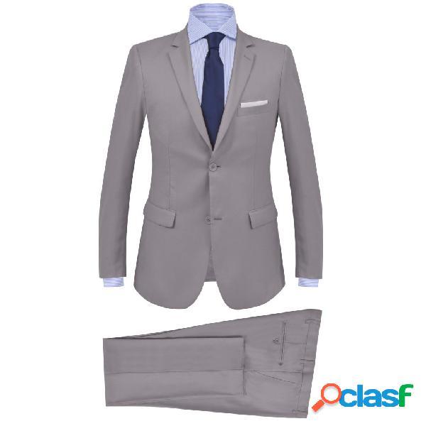 vidaXL Traje de chaqueta de hombre de 2 piezas talla 50 gris