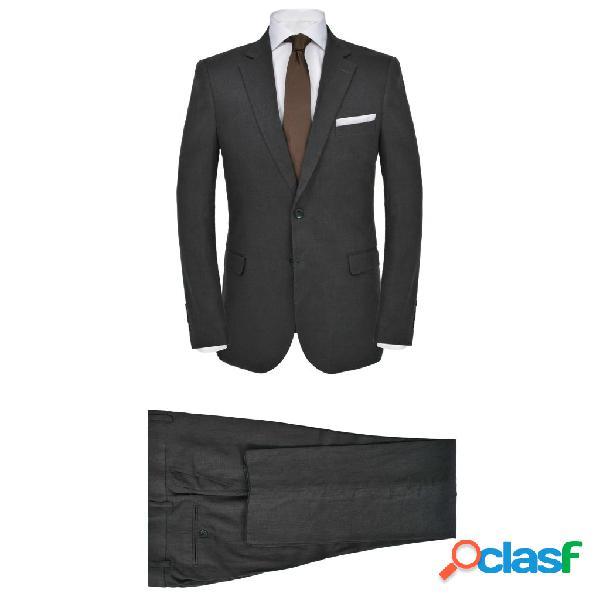 vidaXL Traje de chaqueta de hombre lino 2 piezas talla 54