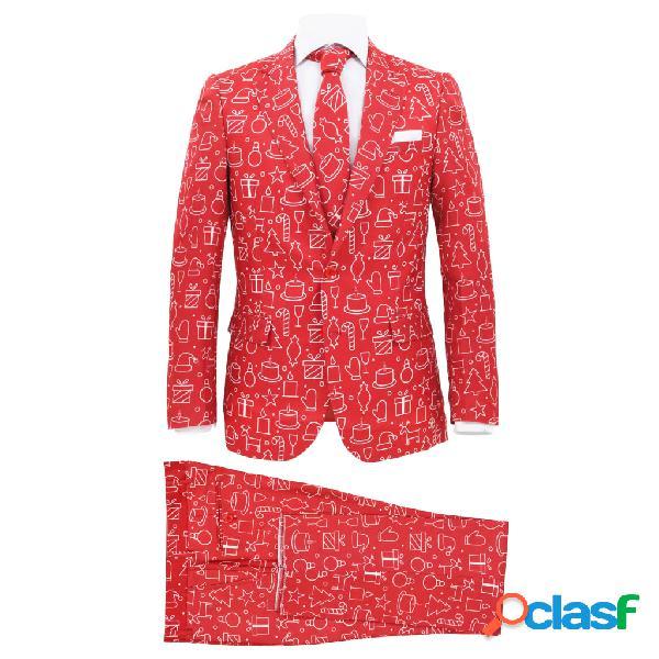 vidaXL Traje de navidad hombre 2 piezas corbata talla 56