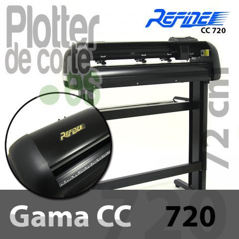 Plotter de corte Refine CC720. Con láser de posicionamiento