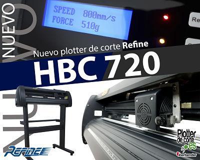 Plotter de corte Refine HBC720. SOPORTE EN CASTELLANO
