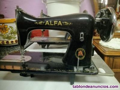 Antigua cabeza de máquina de coser