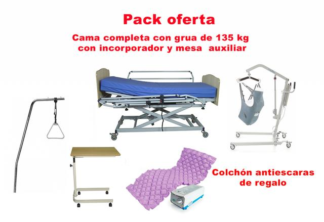 Pack cama articulada y grua