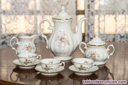 Juego de cafe porcelana santa clara