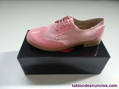 Calzado oxford mujer rosa